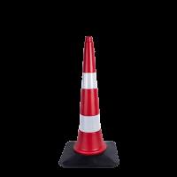 75 cm Reklam ve Trafik Konisi (Kauçuk Tabanlı)